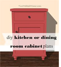 kitchen or dining room storage cabinet free diy furniture plan