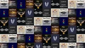 Bastille Bad Blood Lorde Tiled Desktop Wallpaper