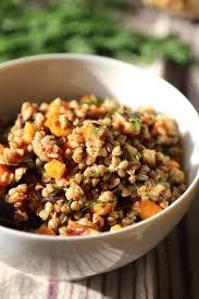 recette cuisine automne salade végétarienne de sarrasin aux saveurs d automne courge