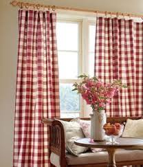Red And White Curtains For Kitchen by My New Red Buffalo Check Living Room Curtains Cottage Style