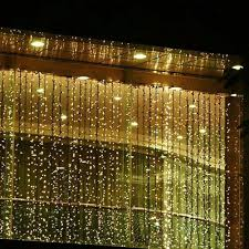 best deal on led icicle lights warm white 300led window curtain icicle lights string fairy light