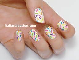 rainbow nail art tutorial and rainbow sprinkles nails