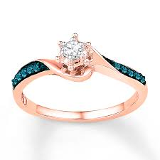 kay jewelers promise rings kay diamond promise ring 1 6 ct tw blue white 10k rose gold