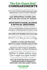 fabulous reference u003e the eat clean diet commandments print