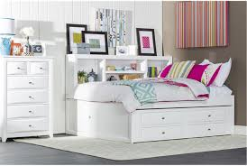 Twin White Bedroom Set - bedroom cute white trundle bed for inspiring teenage bedroom
