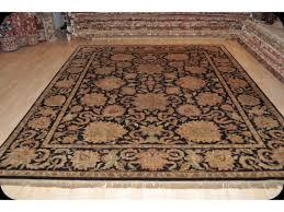 fine quality hand woven black background rug 8 u0027 x 10 u0027 black rose