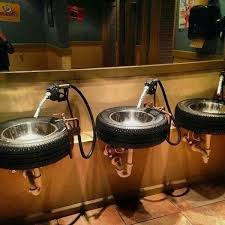 34 best cave bathroom images a sink that is also a tire idea for a cave