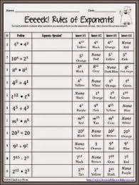 exponent worksheets puzzle teacher resources