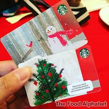 the food alphabet and more new starbucks cards new starbucks