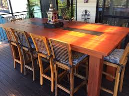 Bar Height Patio Table And Chairs Ana White Outdoor Bar Height Table With Built In Ice Trays Diy