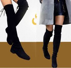 womens flat black boots size 11 womens tassel knee thigh high boots toe flat