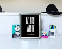 Fashion Avenue New York City Typographic Print by eastlovecoast