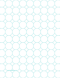 printable octagon graph paper with 1 inch spacing on letter sized