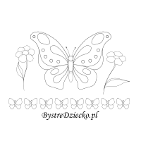 butterfly picture tracing worksheets for kids and flowers colorin