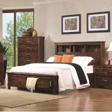 coaster noble queen bookcase bedroom set with dovetail drawers in