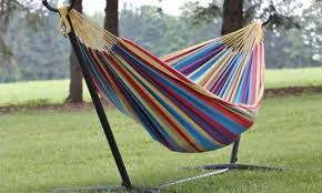 my vivere uhsdo9 double hammock with space saving steel stand