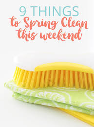 9 things to spring clean this weekend the organised housewife