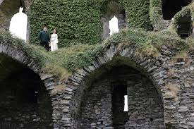 wedding arches ireland intimate wedding at castle ruin in the west coast of ireland