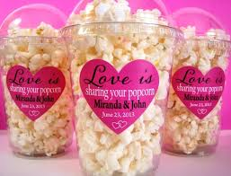 popcorn favor bags popcorn boxes wedding favor engagement party bridal shower diy