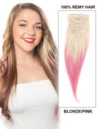 24 inch hair extensions inch popular ombre clip in hair extensions two tone 9 pieces