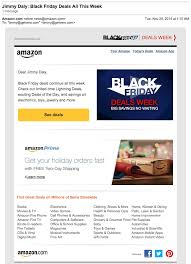 amazon black friday deals no shipping promotional emails examples ideas and best practices