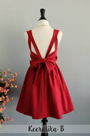 blood red backless dress party dress prom cocktail dress red