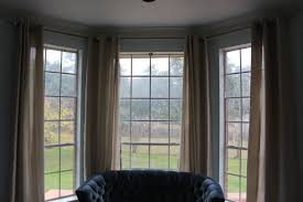 best bay window curtain rods with ikea curtains bay window