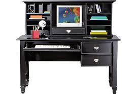 Belmar Black 2 Pc Desk And Hutch Desks Black