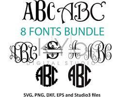 monogrammed fonts monogram font etsy