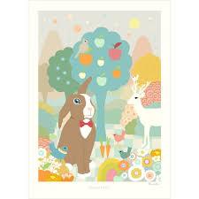 poster chambre bebe affiche pour chambre bébé inspiré des contes pour enfants