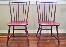 vintage bamboo chairs nichols and stone painted chairsd