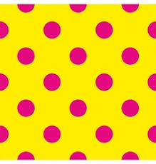 yellow with pink polka dots tile yellow polka dots on pink background vector image