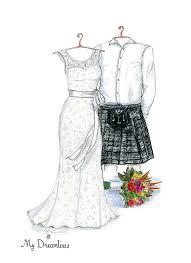 dreamlines personalized wedding dress sketch favors u0026 gifts o