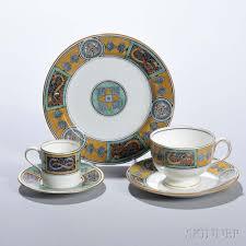 three wedgwood celtic ornaments decorated bone china items