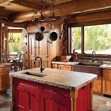 Cabin Kitchen Cabinets 25 Best Rustic Cabin Kitchens Ideas On Pinterest Rustic Cabin