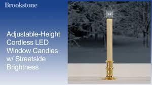 adjustable height cordless led window candles w streetside