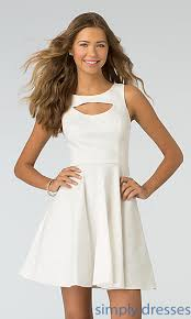 short casual ivory white dress by xoxo