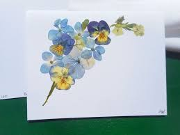 301 best cards handmade with real pressed flowers no
