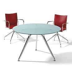 table ronde de bureau table de réunion ronde fixe pour 4 personnes arkitek