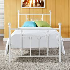 Full Platform Bed With Headboard Full Size White Metal Platform Bed With Headboard And Footboard