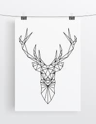 the 25 best geometric deer ideas on pinterest deer tattoo