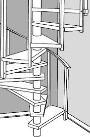 Spiral Stair Plans Spiral Stairs Crafted In Wood