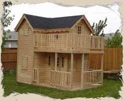 Backyard Clubhouse Plans by Double Decker Playhouse Plans Child U0027s Outdoor Wood Playhouse