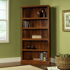 Sauder White Bookcase by Furniture Appealing White Kmart Bookshelves With Wicker Basket