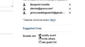 make a guest list and track rsvps on google calendar