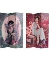 Canvas Room Divider Incredible Deal On Double Sided 6 Foot Earth Canvas Room Divider