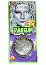 Tin Man Costume Silver Metallic Makeup