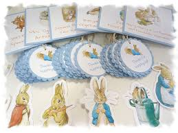 rabbit party supplies rabbit beatrix potter party package food table signs