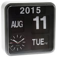 karlsson mini flip wall clock white