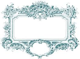 photo frame baroque frame image graphicsfairy teal the graphics fairy
